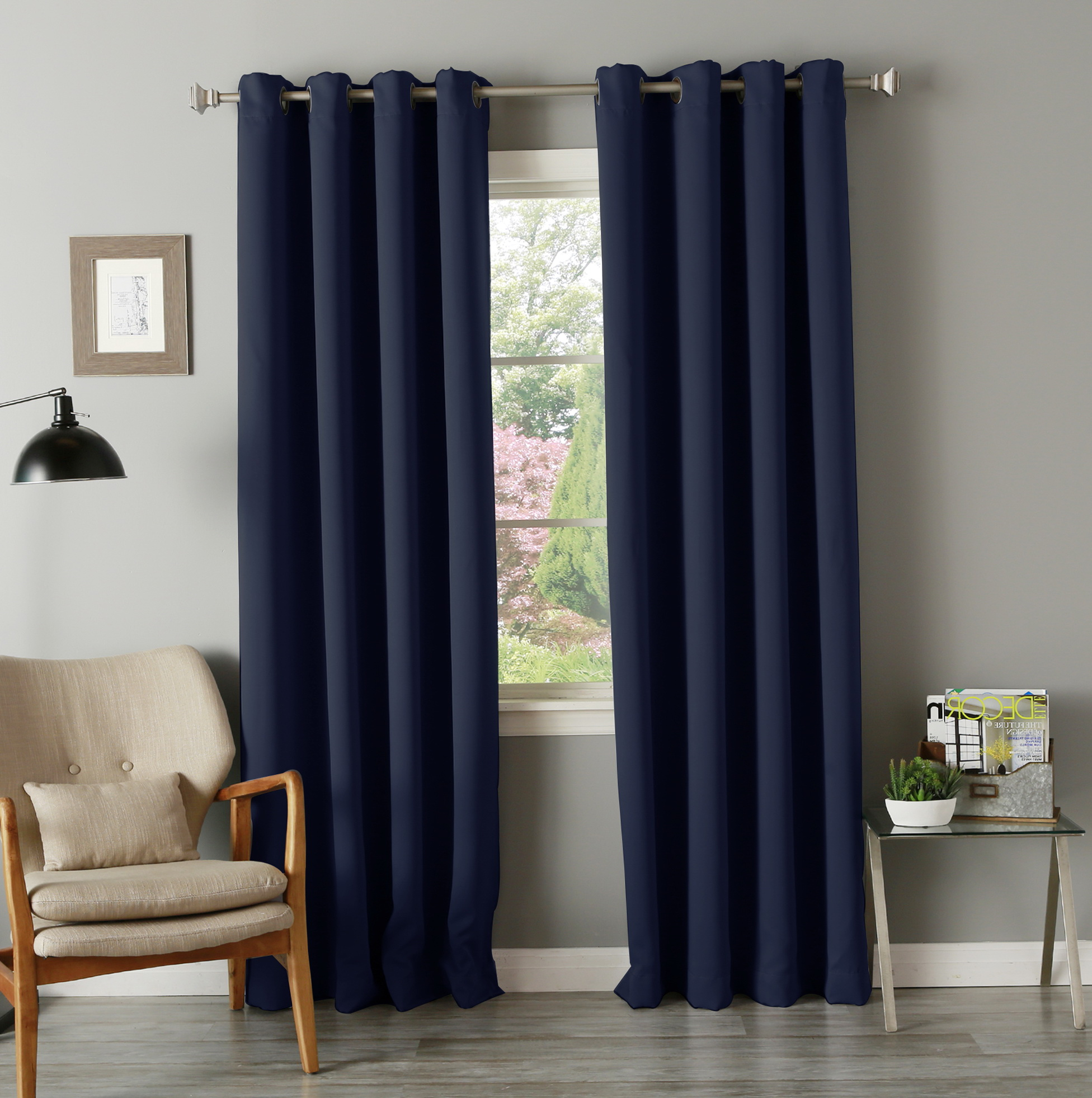 blackout com solar blue curtains eyelet royal check argos pleat radiofradio pencil