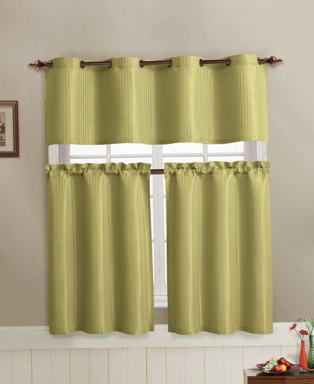 Green And White Kitchen Curtains: Green And White Kitchen Curtains
