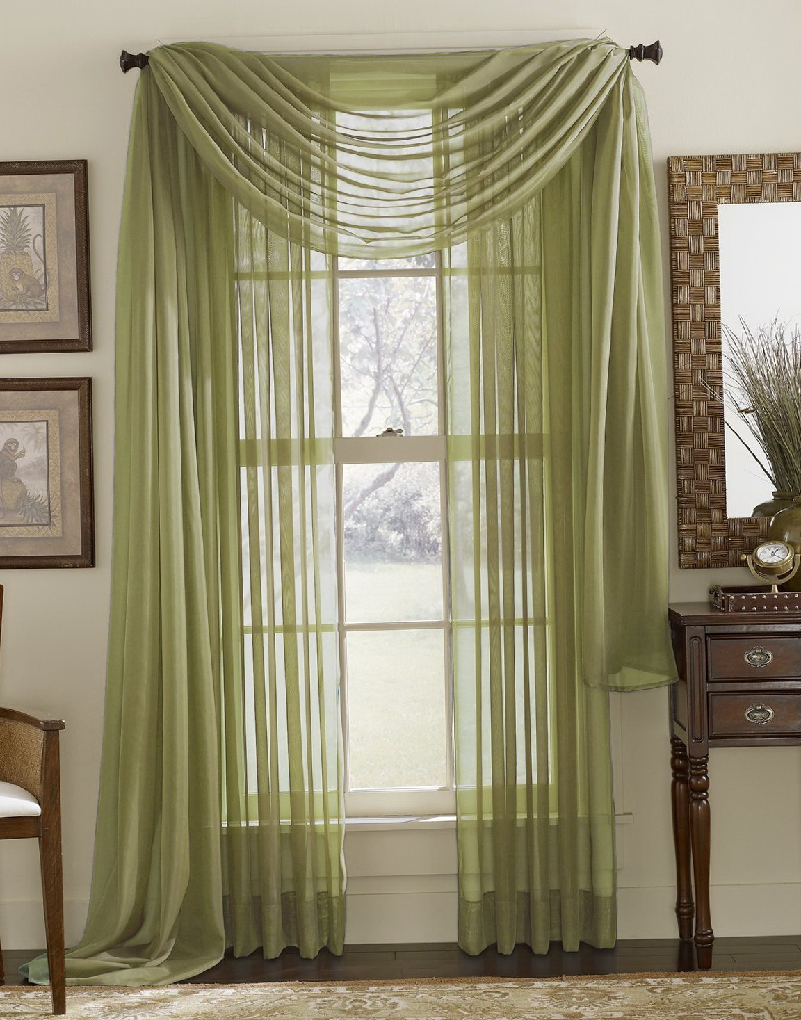 Sage Green Sheer Curtains