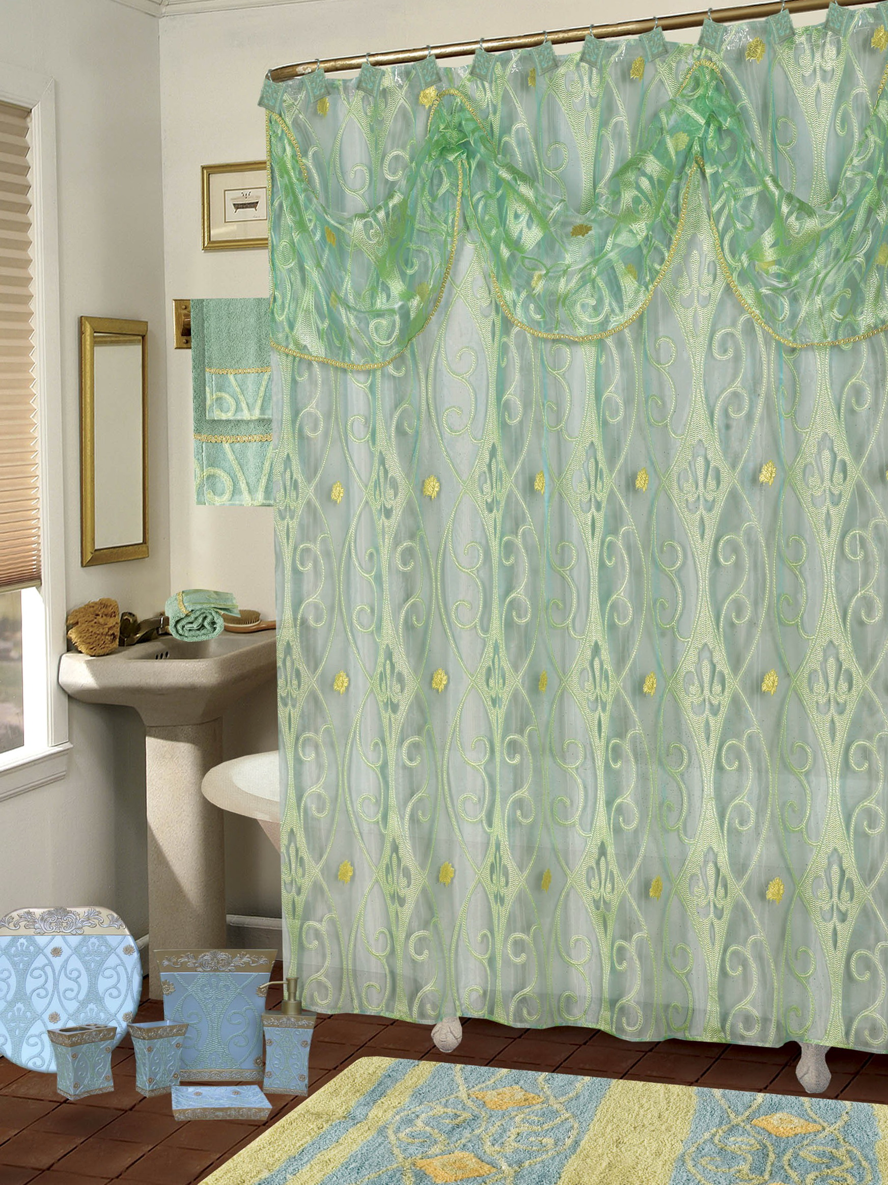 Sage Green Shower Curtains Home Design Ideas