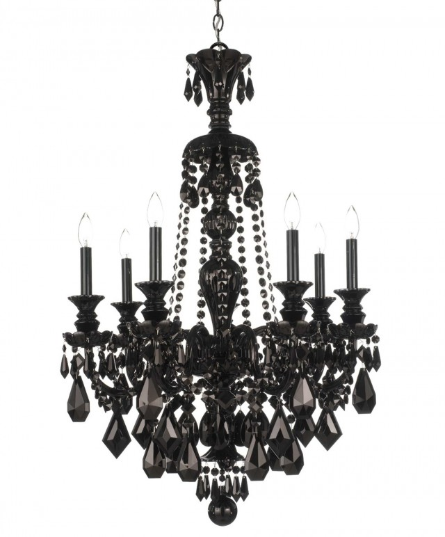 Schonbek Black Crystal Chandelier
