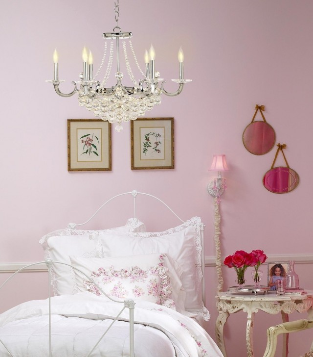 Shabby Chic Chandelier Bedroom