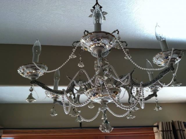 Shabby Chic Chandelier Diy