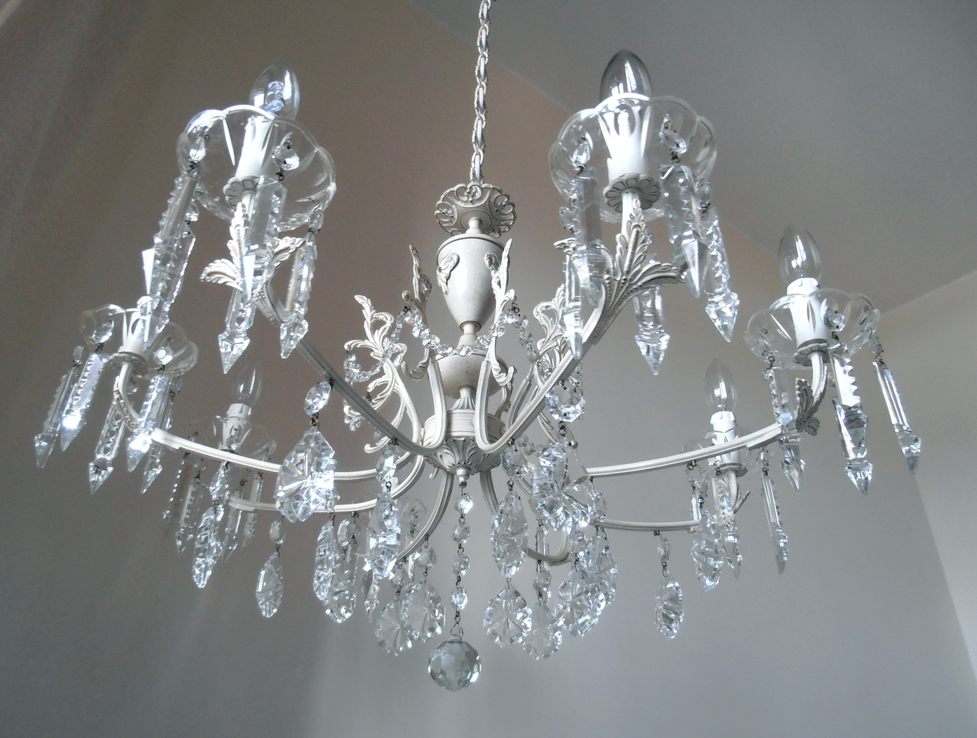 Shabby Chic Chandeliers Crystal