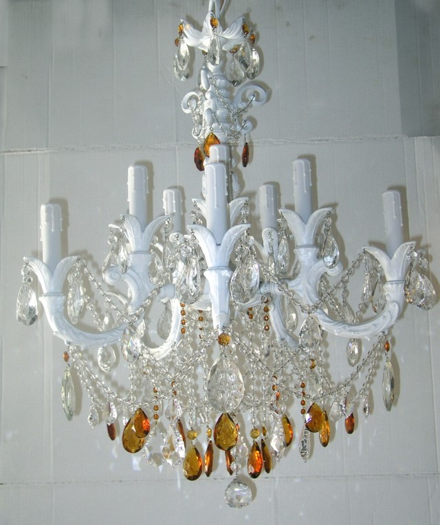 Shabby Chic White Chandeliers