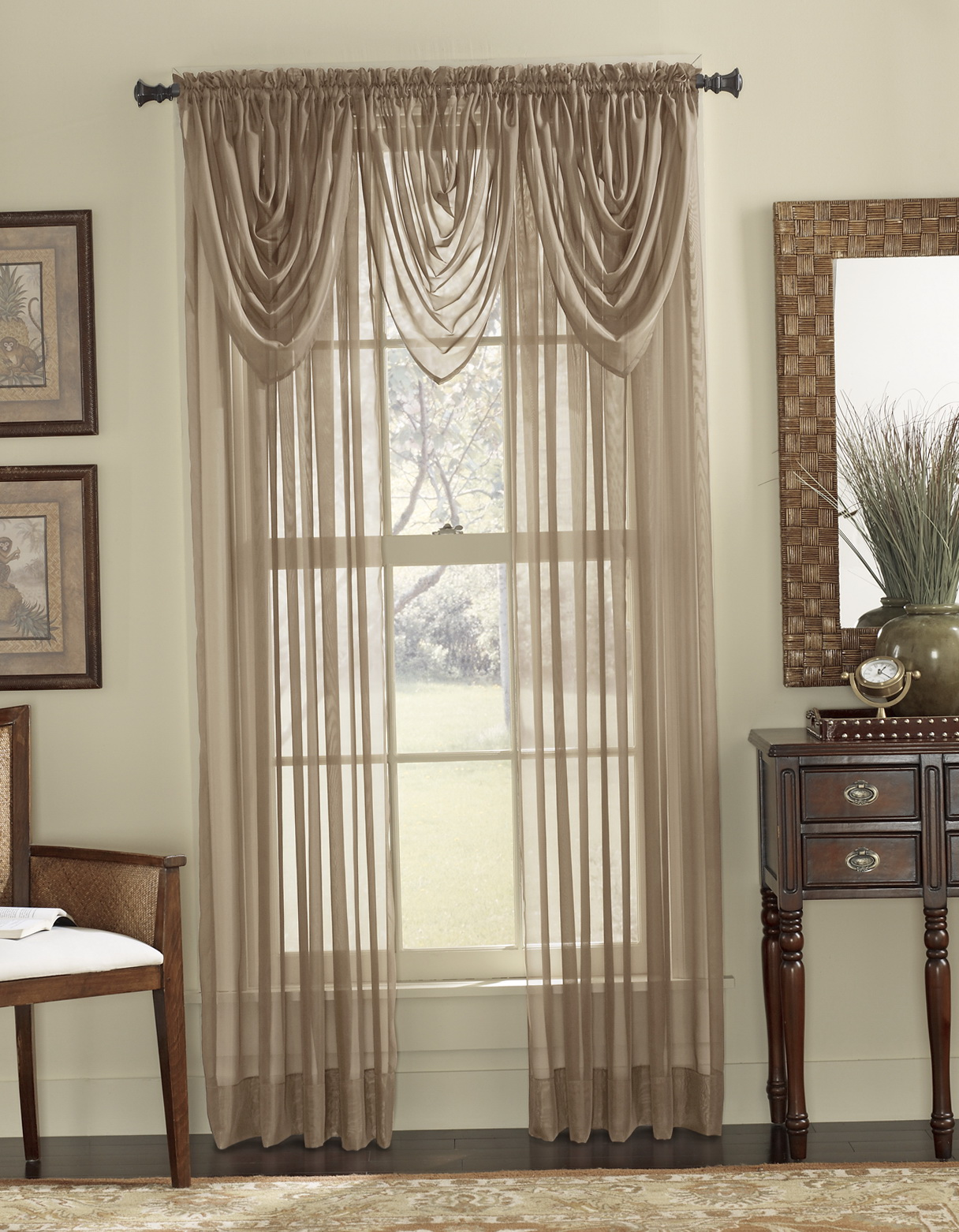 Sheer Curtains With Valance Home Design Ideas