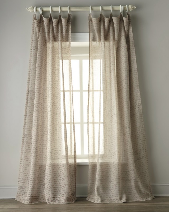 Sheer Linen Curtains 108