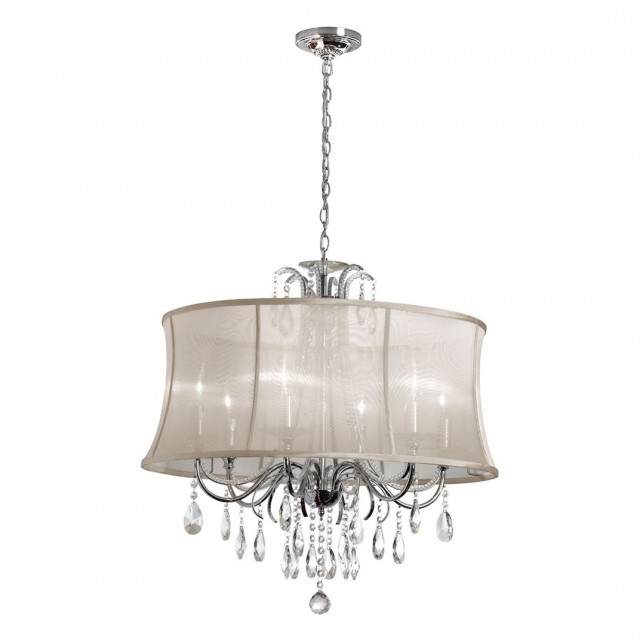 Sheer Shade Crystal Ball Chandelier