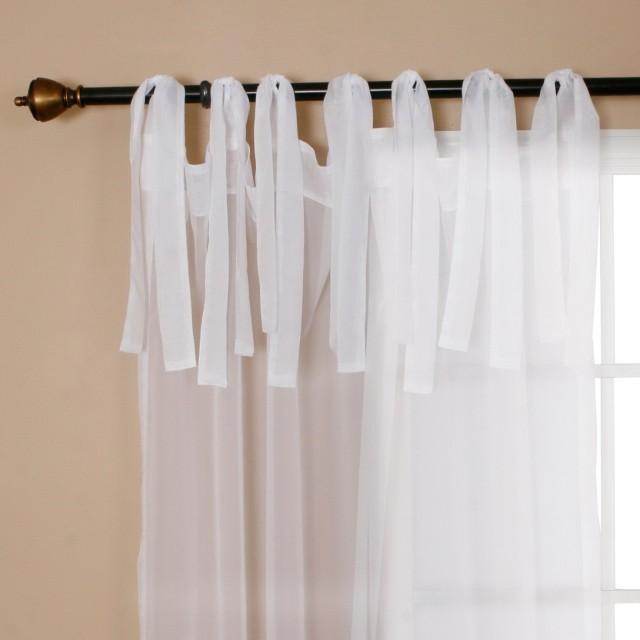 Sheer Tie Top Curtains
