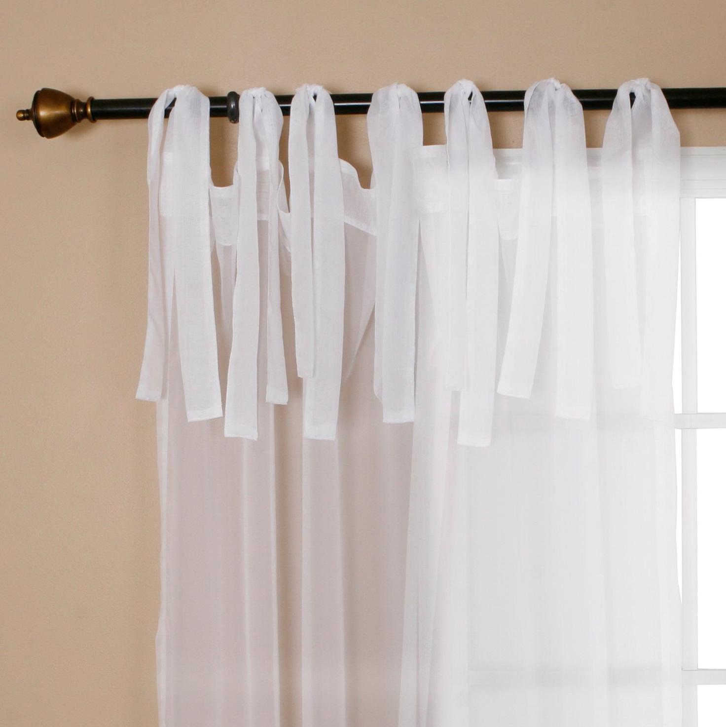 Sheer Tie Top Curtains Home Design Ideas