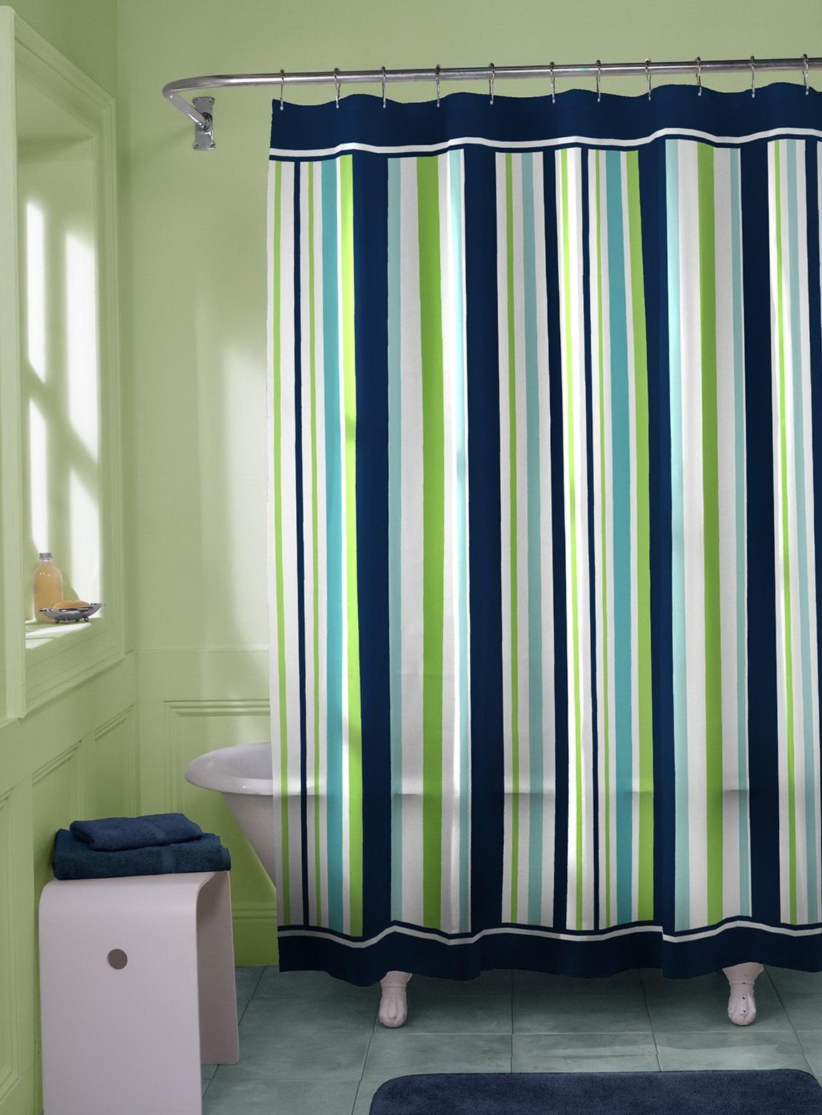 Average length of shower curtain
