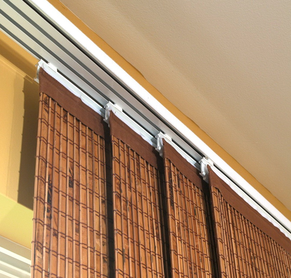 Sliding window panels curtains images for Sliding glass doors curtains