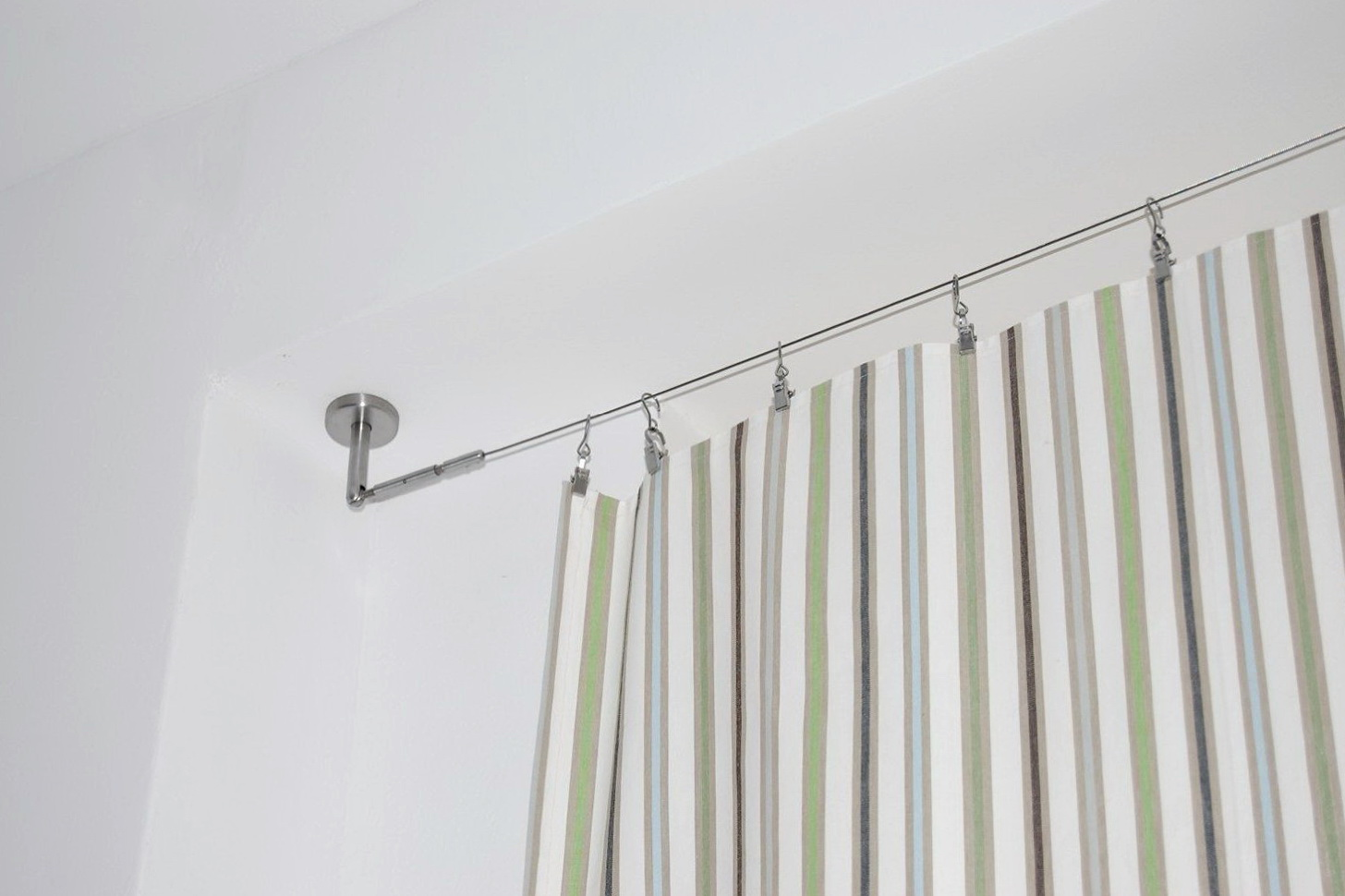 curtain tension product telescopic adjustable extendable spring rod shower pole