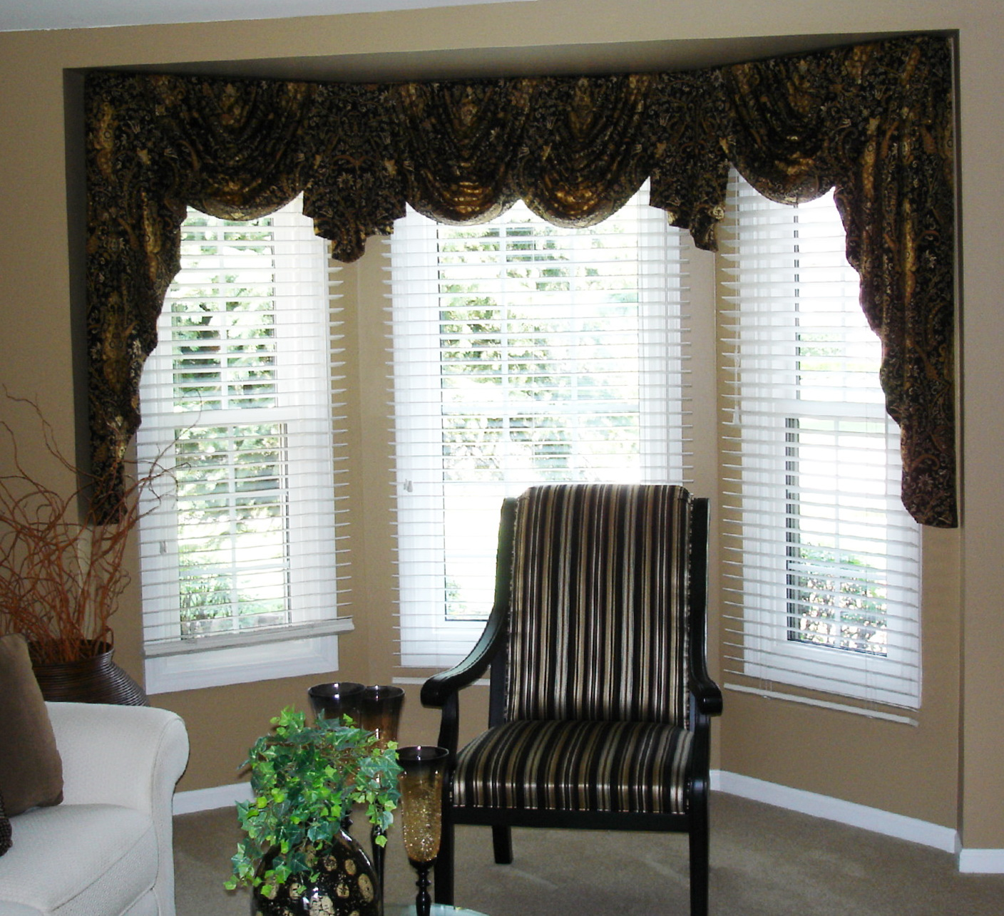 Swag Curtains For Large Windows Home Design Ideas