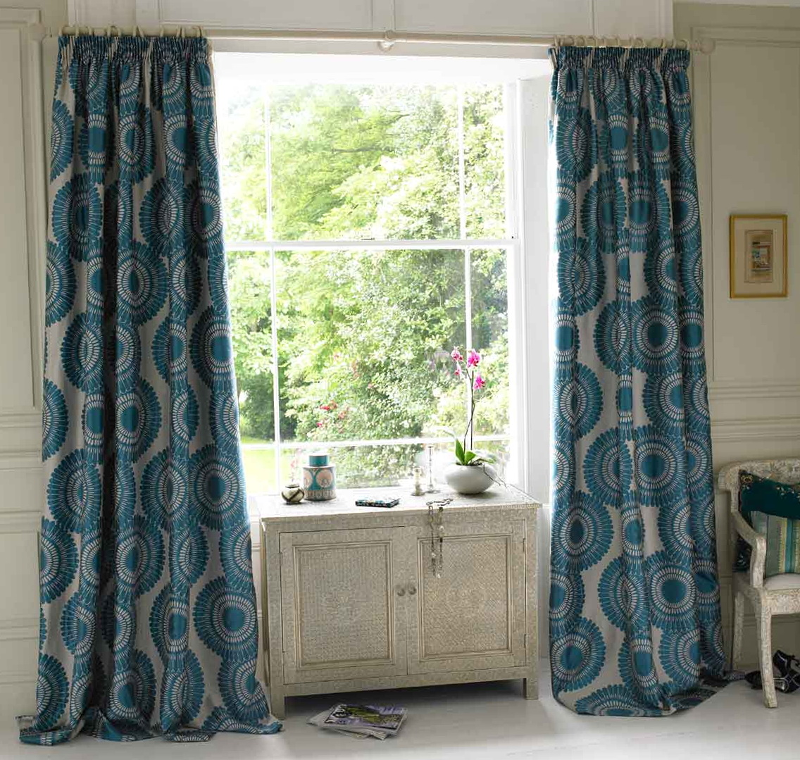 Teal And Brown Curtain Panels Home Design Ideas