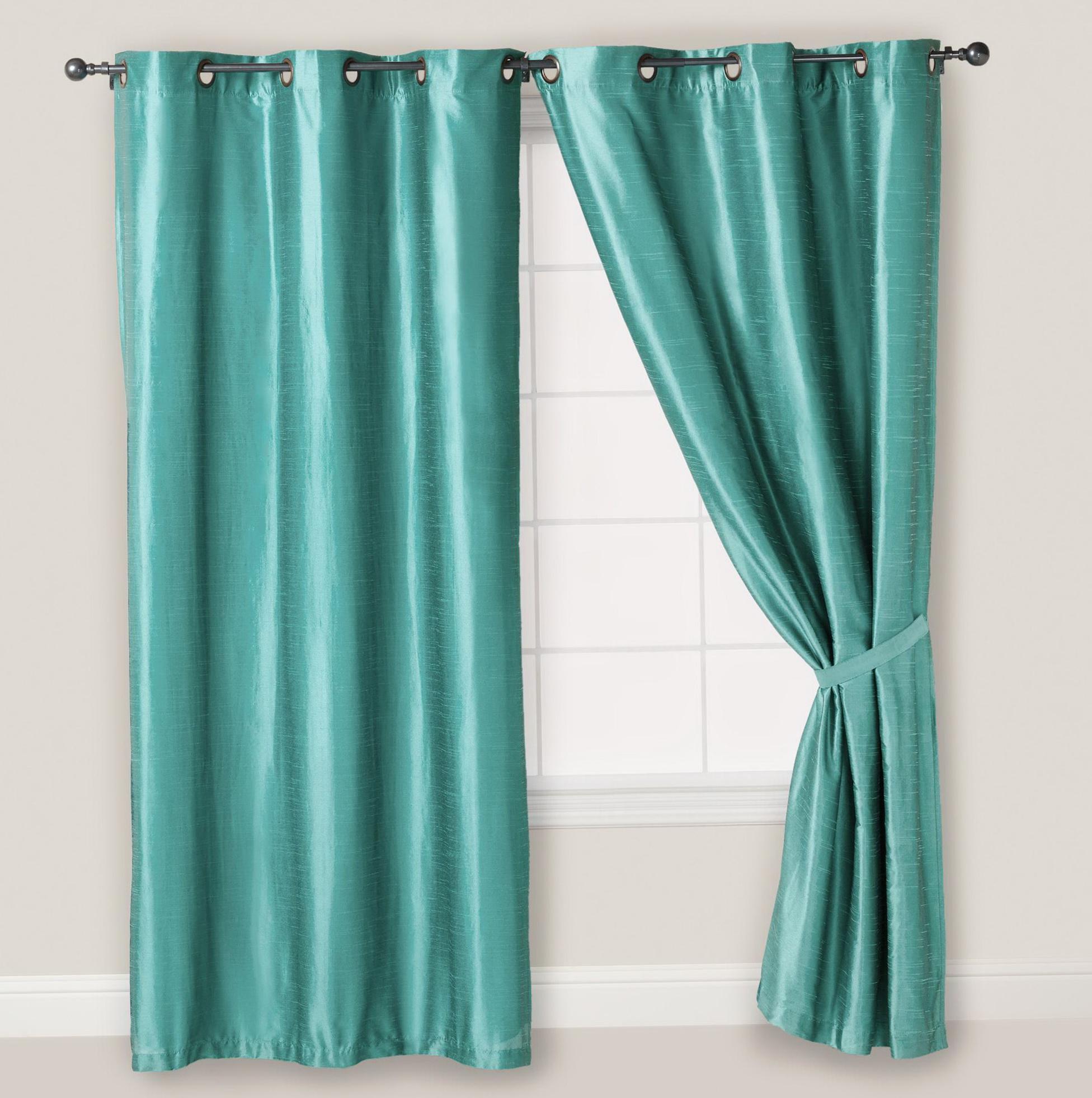 Teal Blue Curtain Panels Home Design Ideas