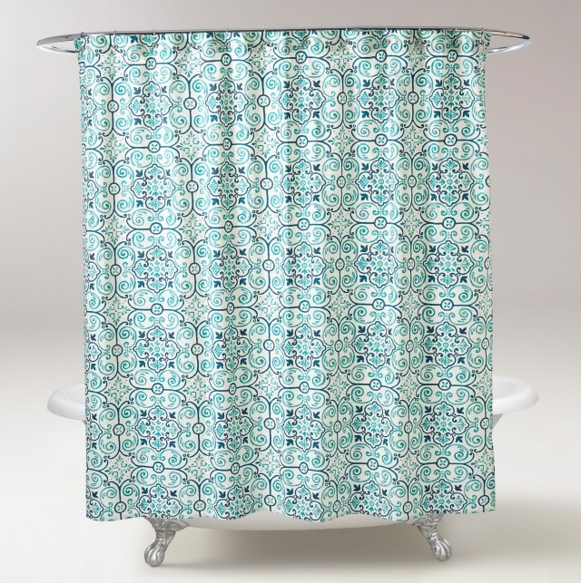 Teal Blue Shower Curtains