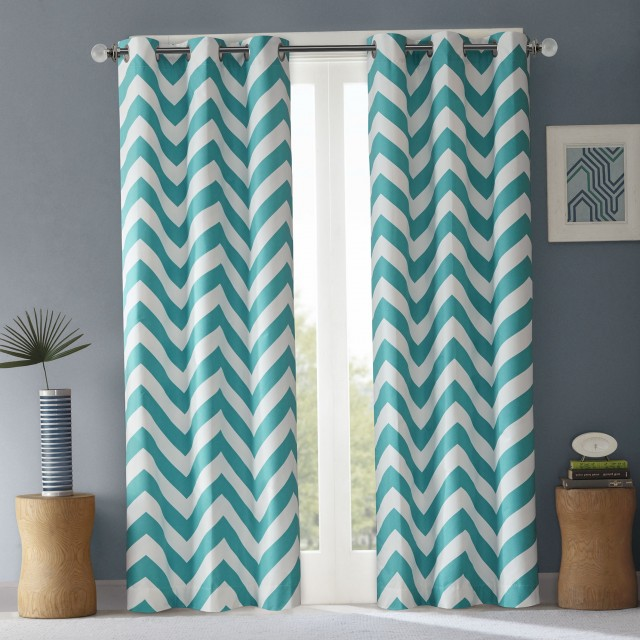Teal Curtain Panels 95