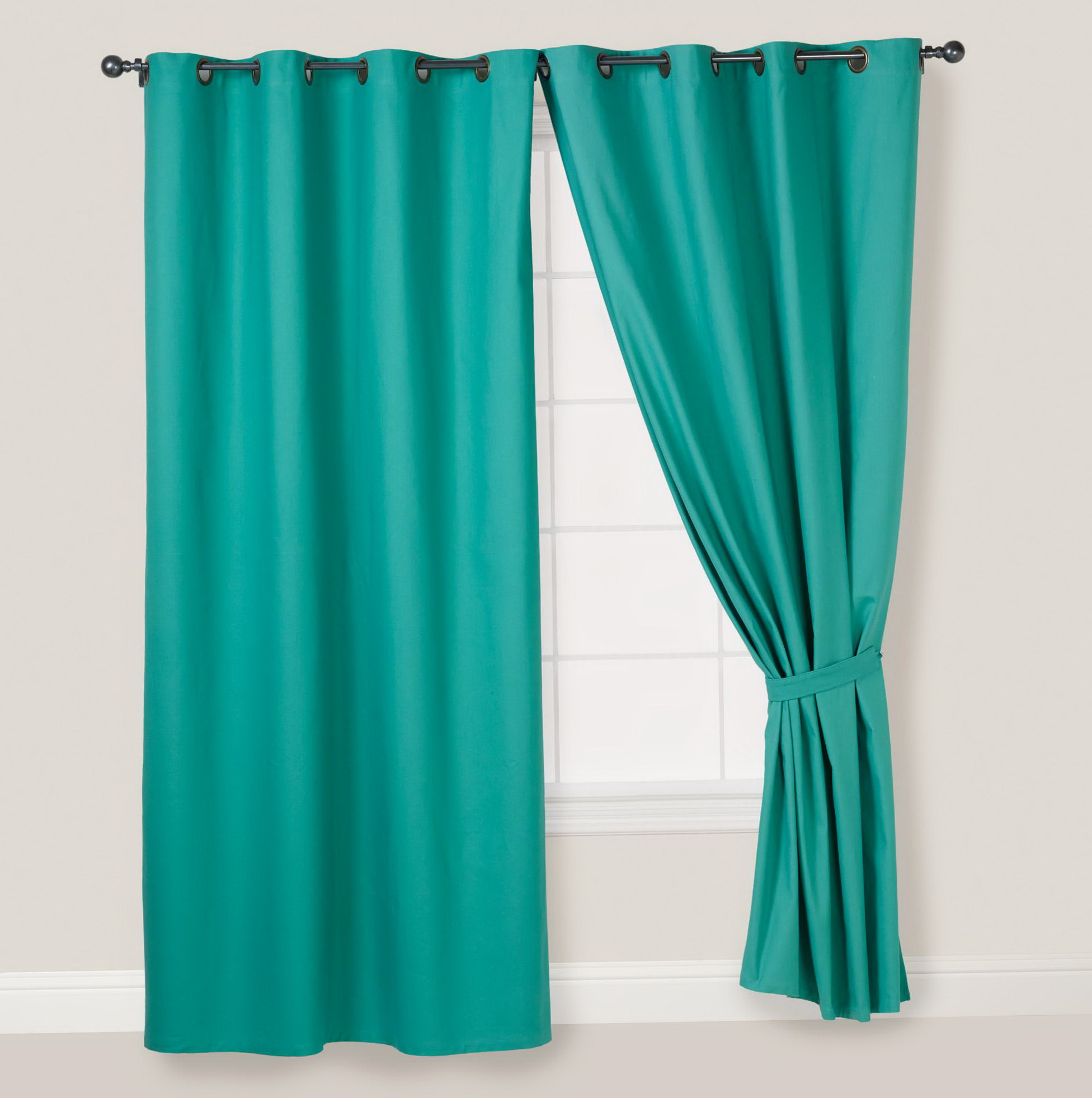 Teal Curtains With Grommets Home Design Ideas