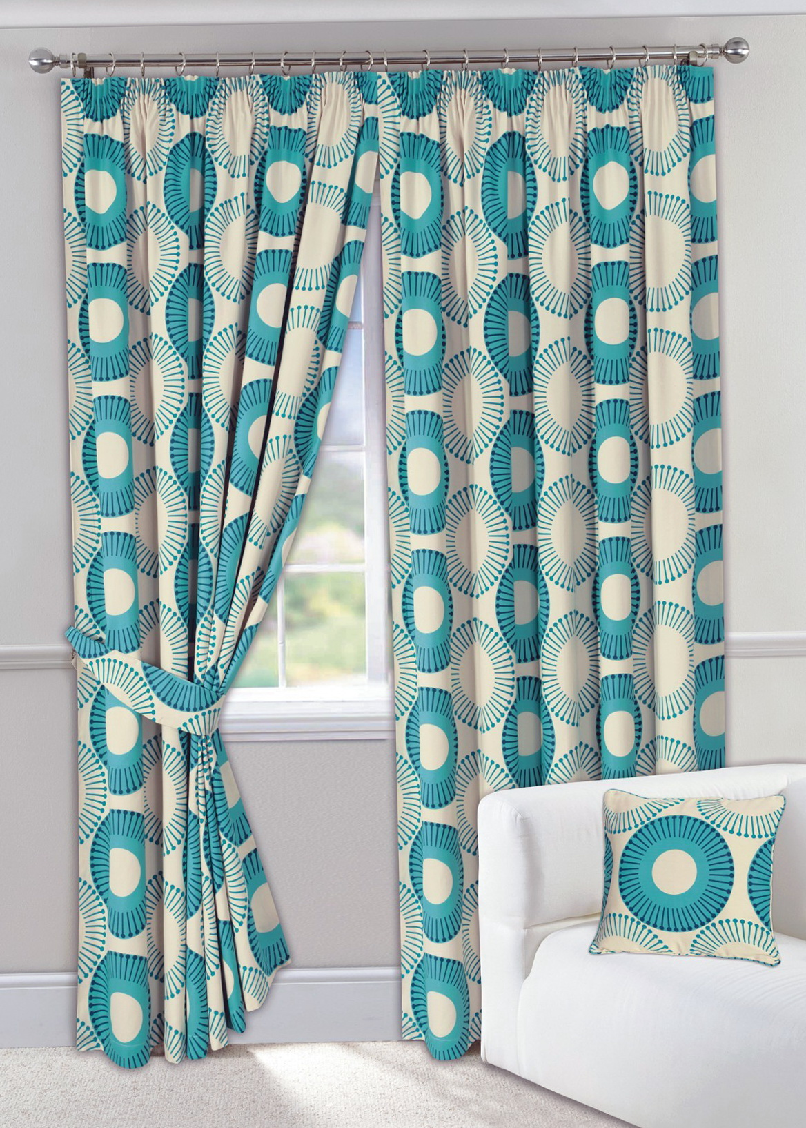 Teal Grommet Curtain Panels Home Design Ideas