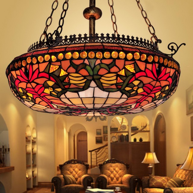 pendant top in glass and lighting chandelier floral stained style ideas with chandeliers light discount tiffany