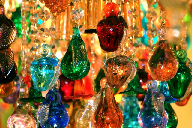 Venetian Glass Fruit Chandelier