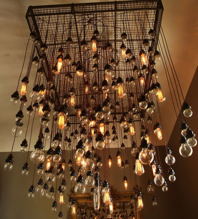Vintage Light Bulb Chandelier