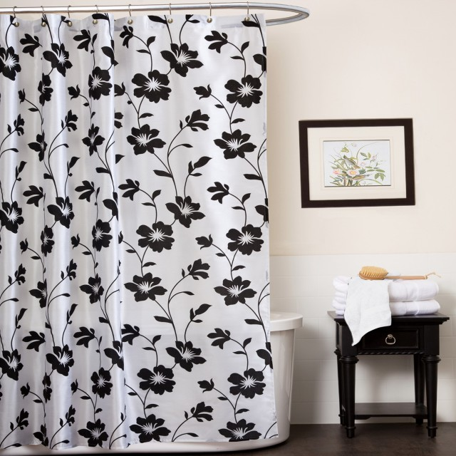 White And Black Shower Curtains