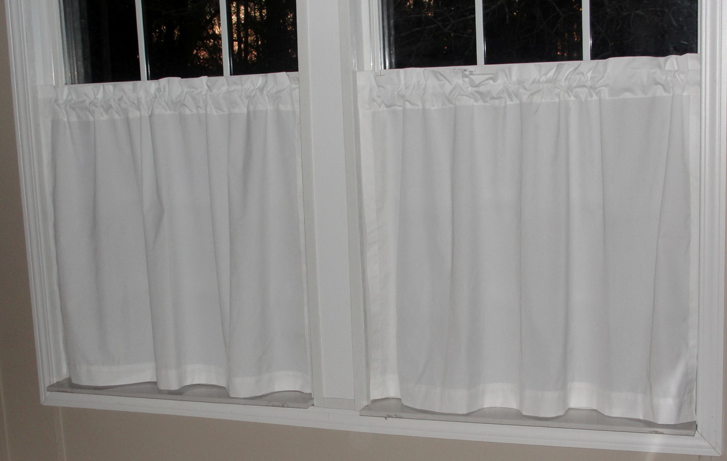 White Cotton Cafe Curtains Home Design Ideas