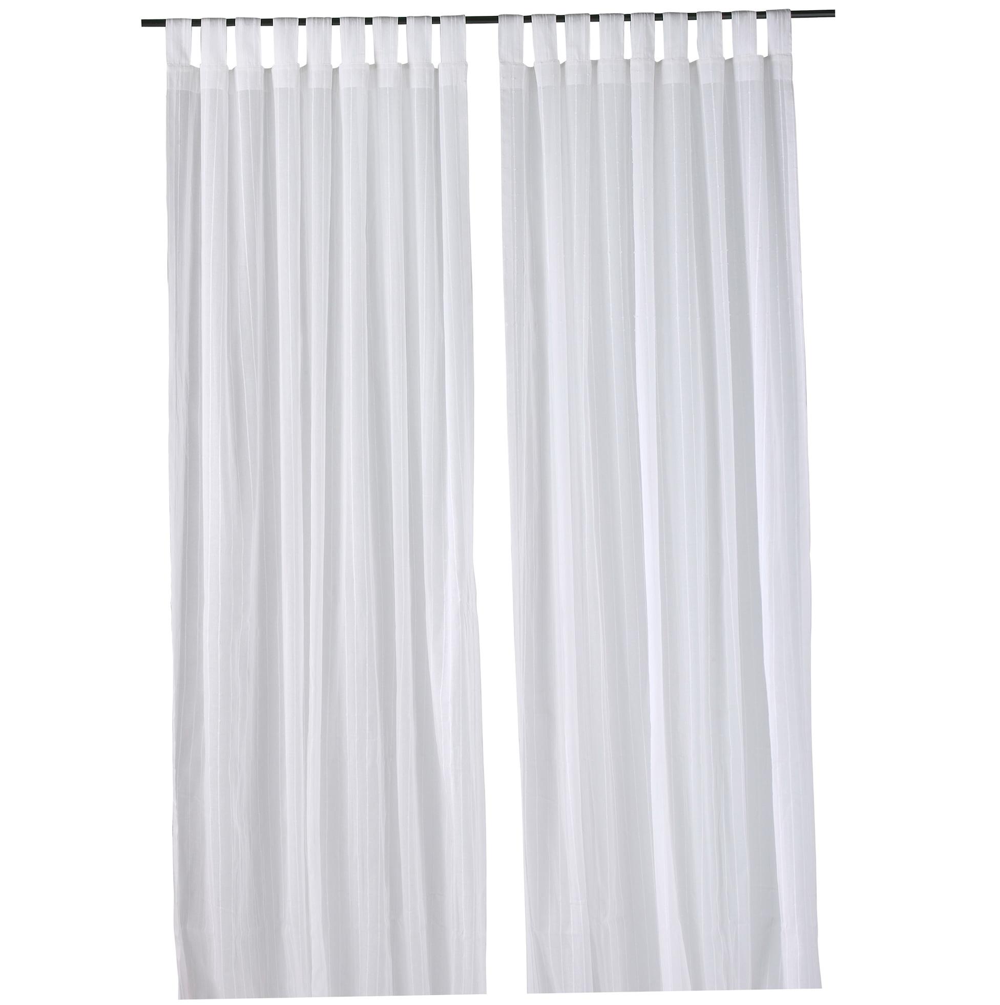 White Cotton Curtains Ikea
