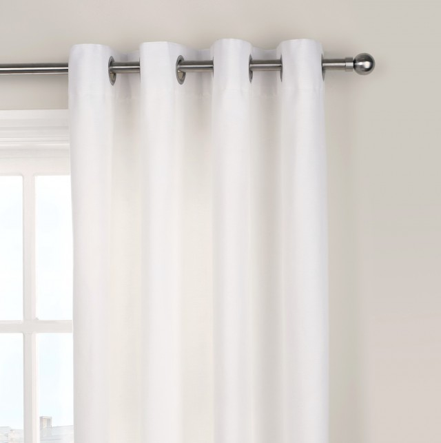 White Cotton Curtains Uk