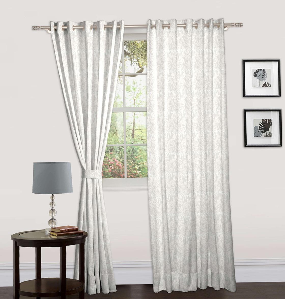 White Cotton Eyelet Curtains Home Design Ideas