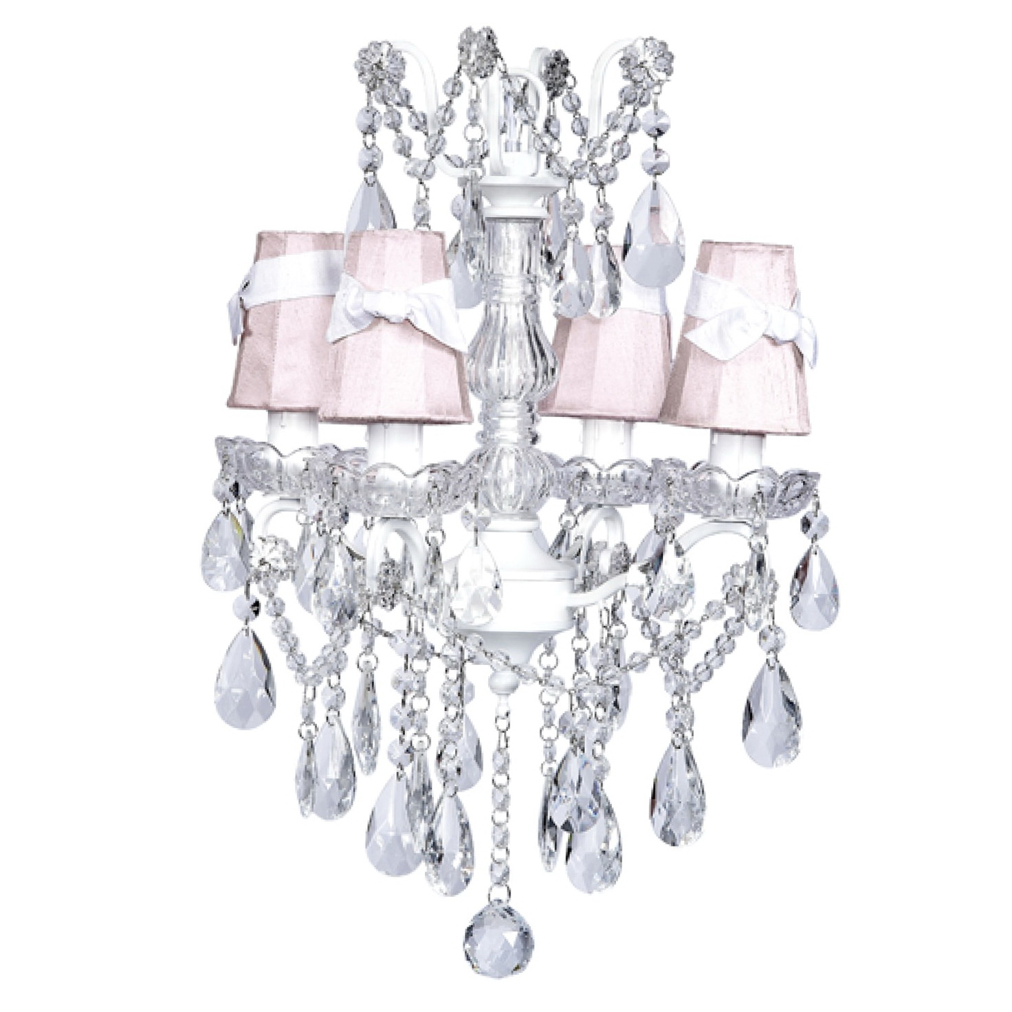 White glass chandelier shades home design ideas - White chandelier with shades ...