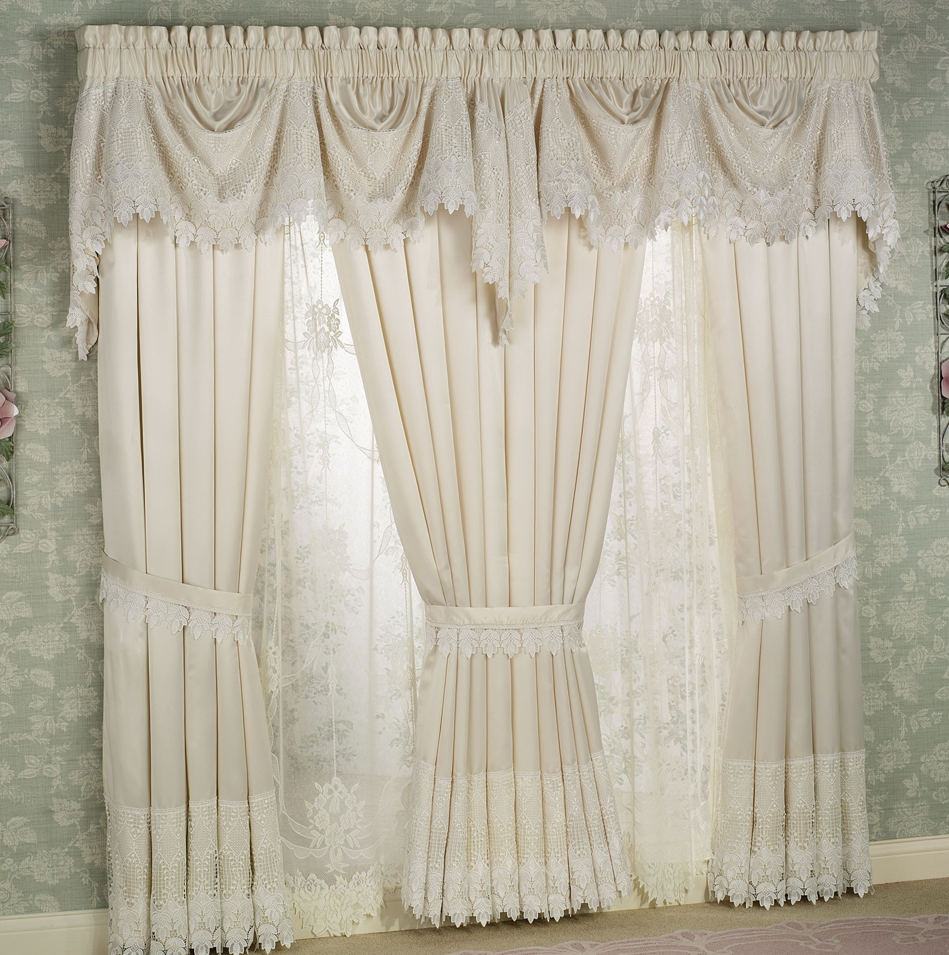 White Lace Curtains For Bedroom