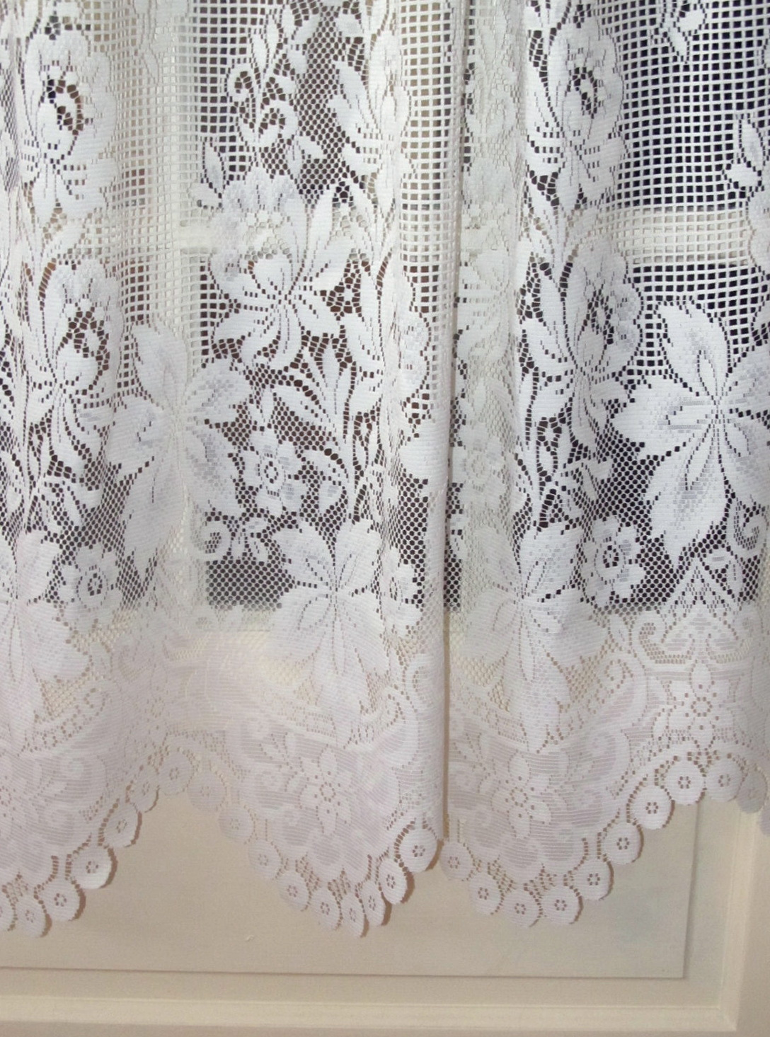 White Lace Curtains Walmart Home Design Ideas