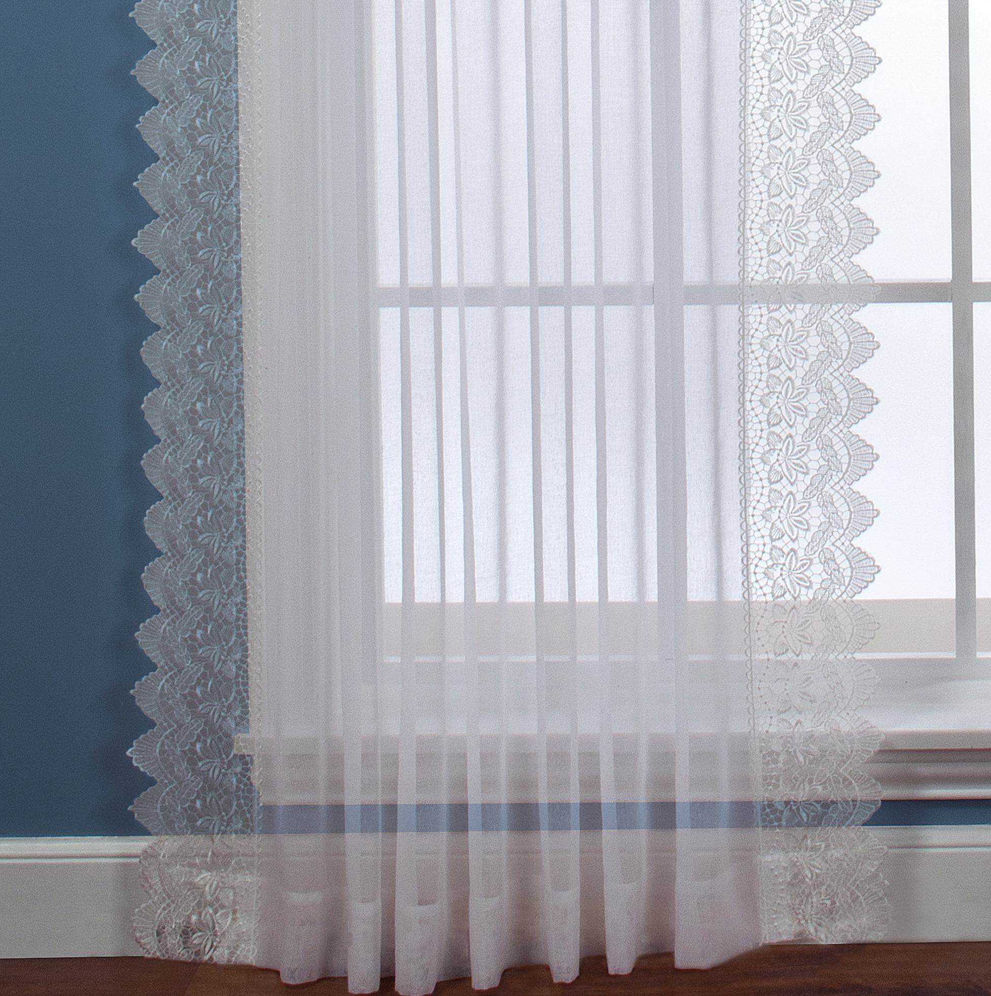 White Semi Sheer Curtains