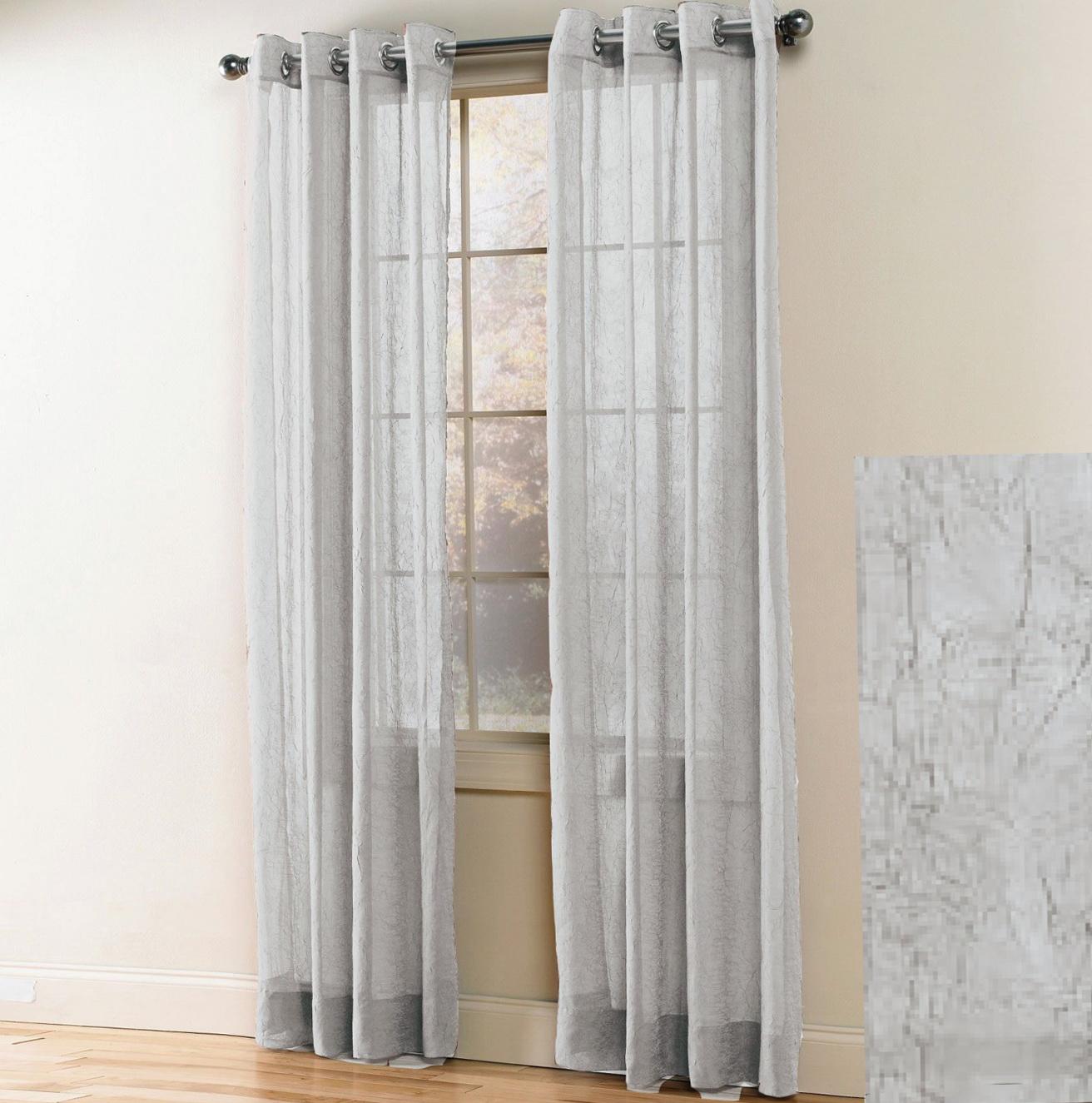 White Sheer Grommet Curtains Home Design Ideas