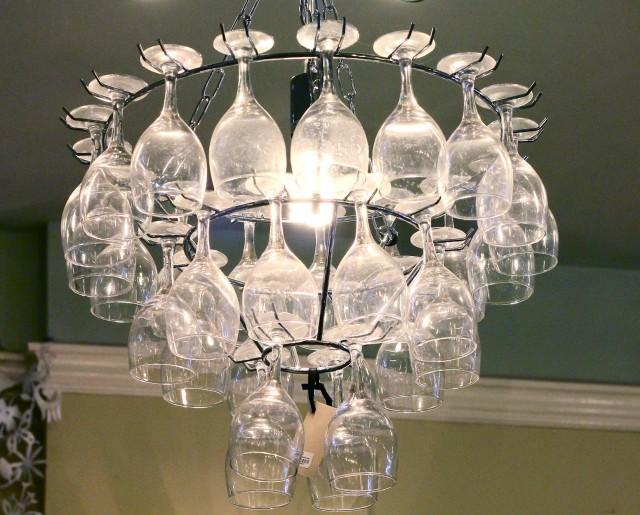 Wine Glass Chandelier Diy
