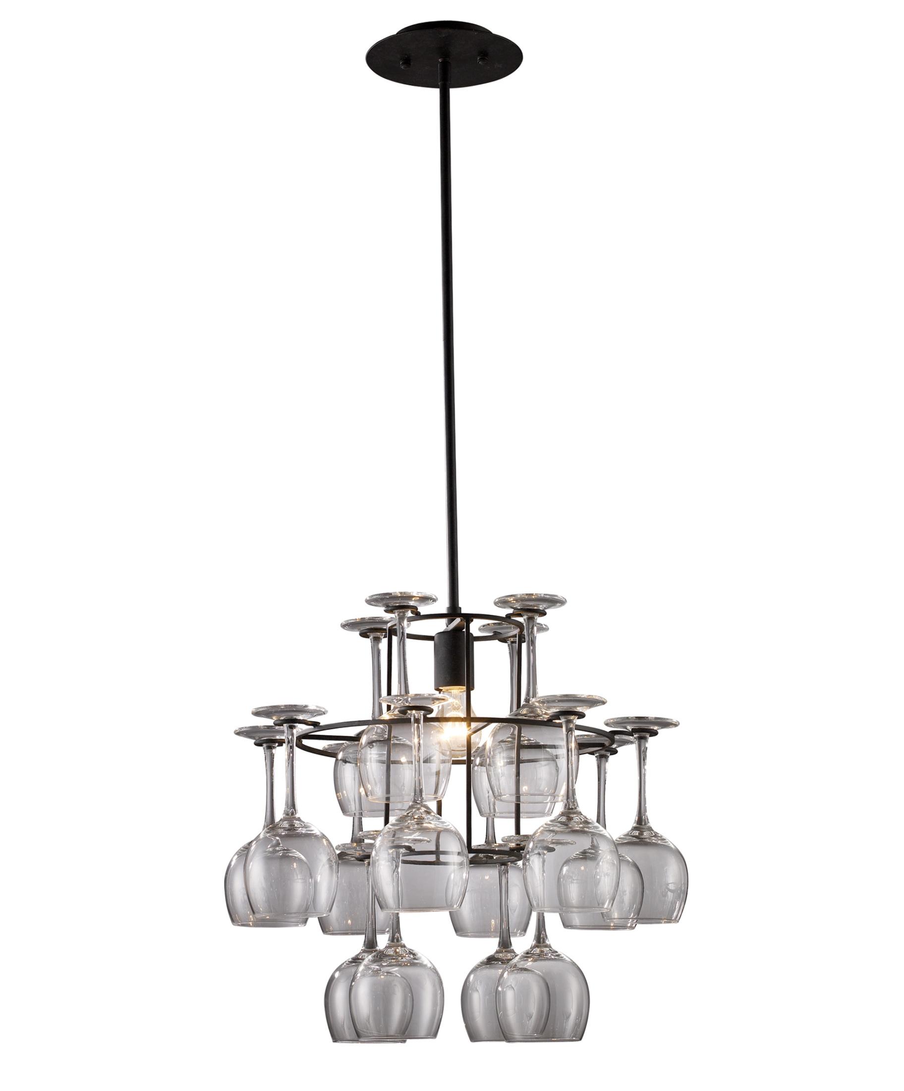 wine glass chandelier kit