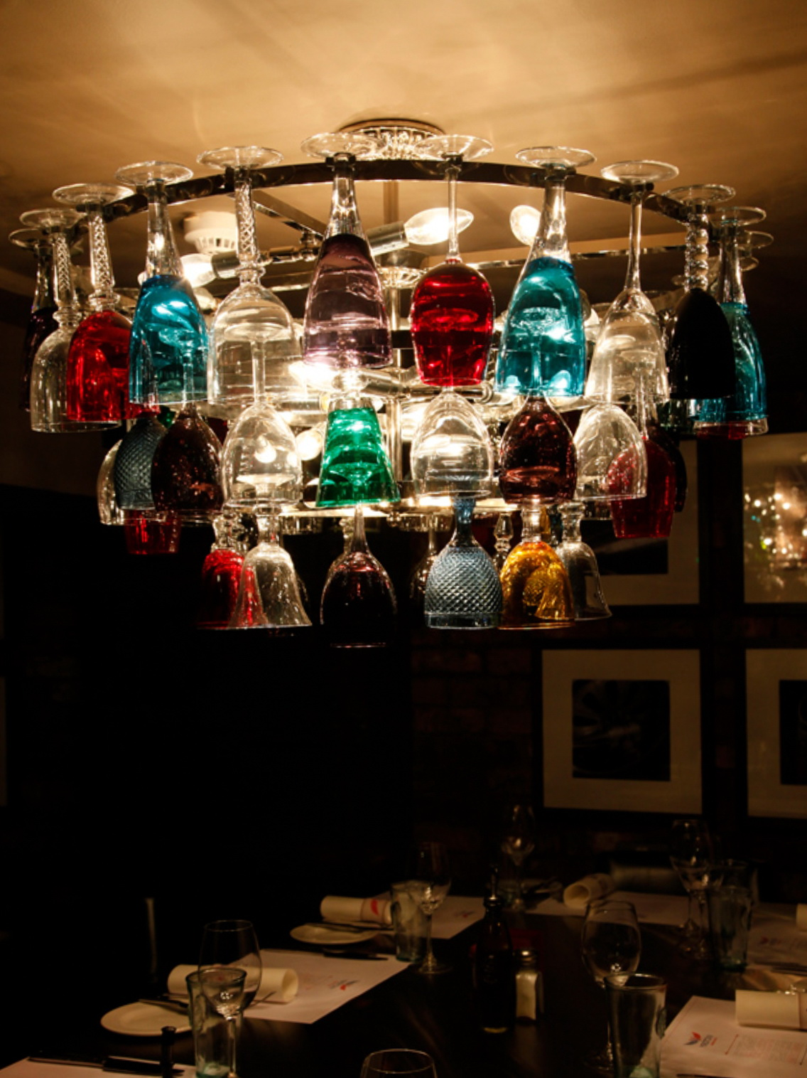 Wine Glass Chandelier Uk