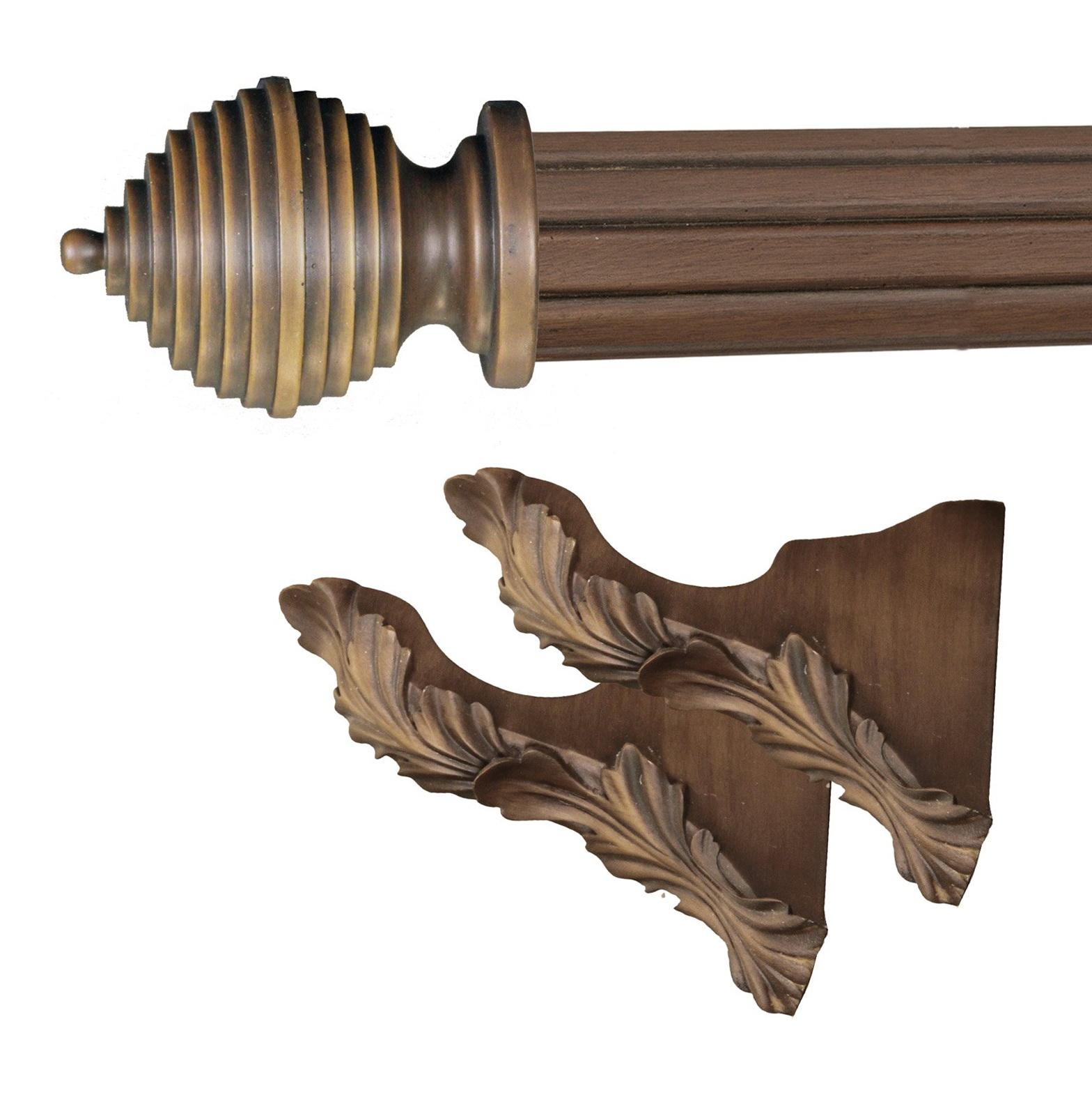 Wood Curtain Rod Brackets Home Design Ideas