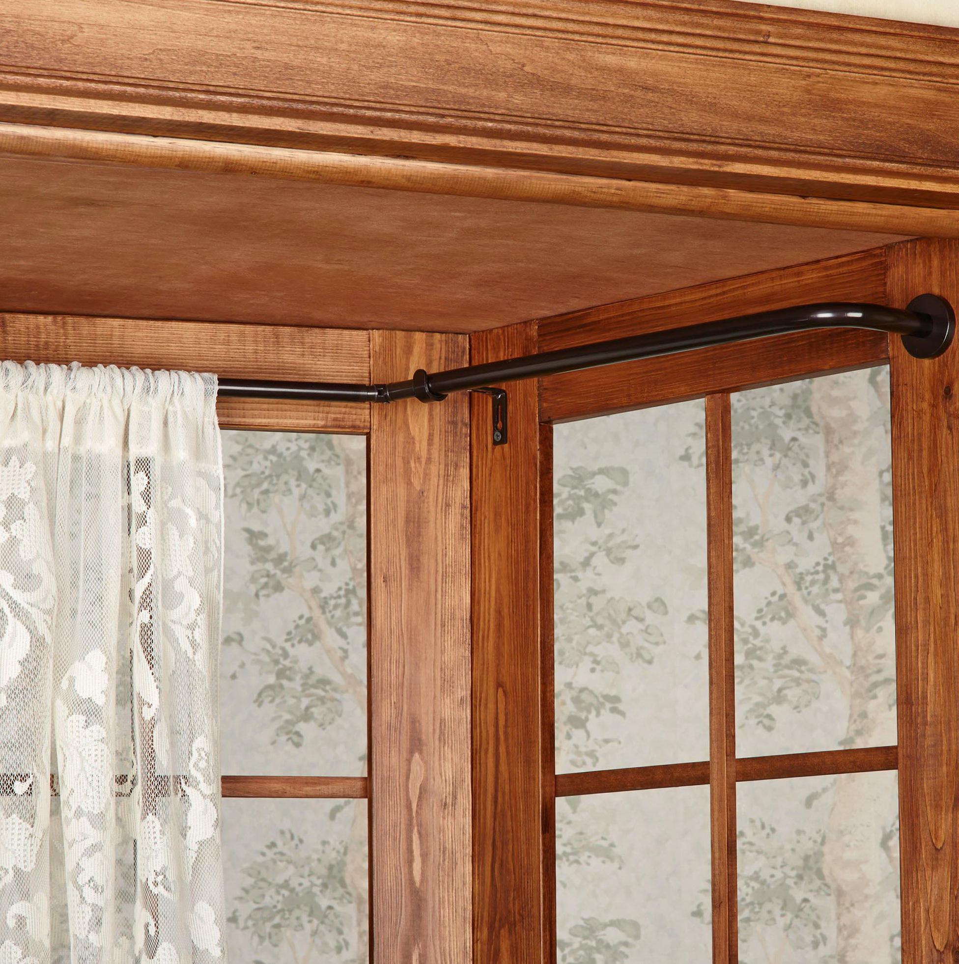 Wrap Around Curtain Rod Lowes Home Design Ideas