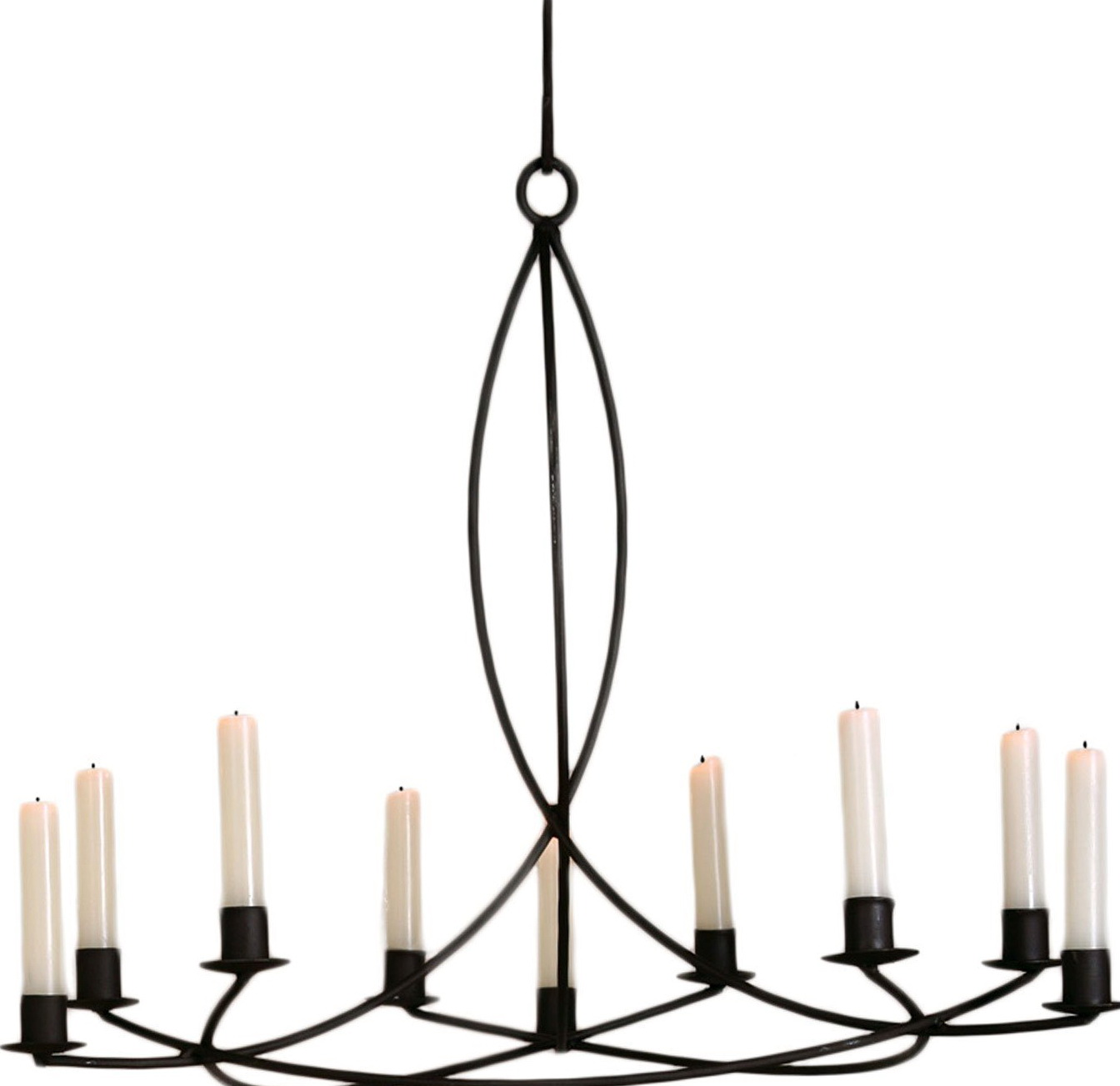 Wrought Iron Chandelier Candle Holder