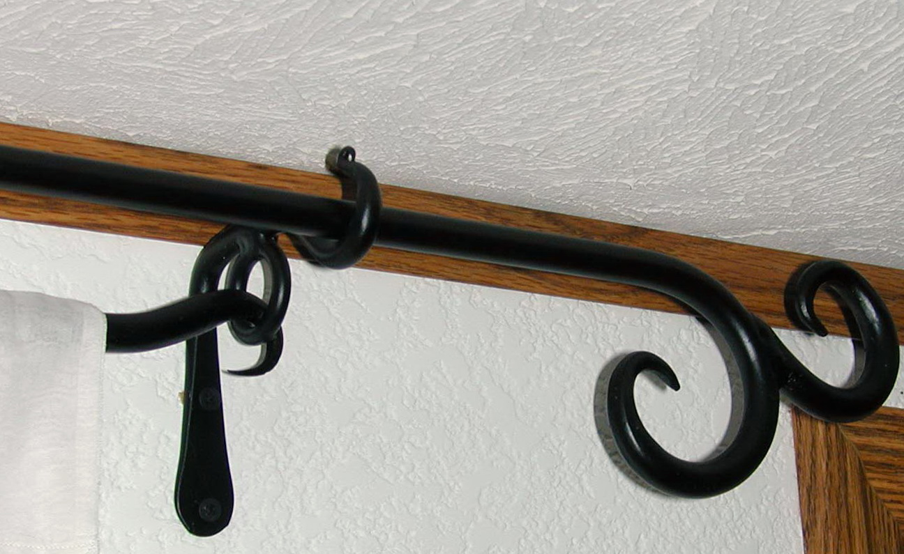 Wrought Iron Curtain Rod Shelf Brackets | Home Design Ideas