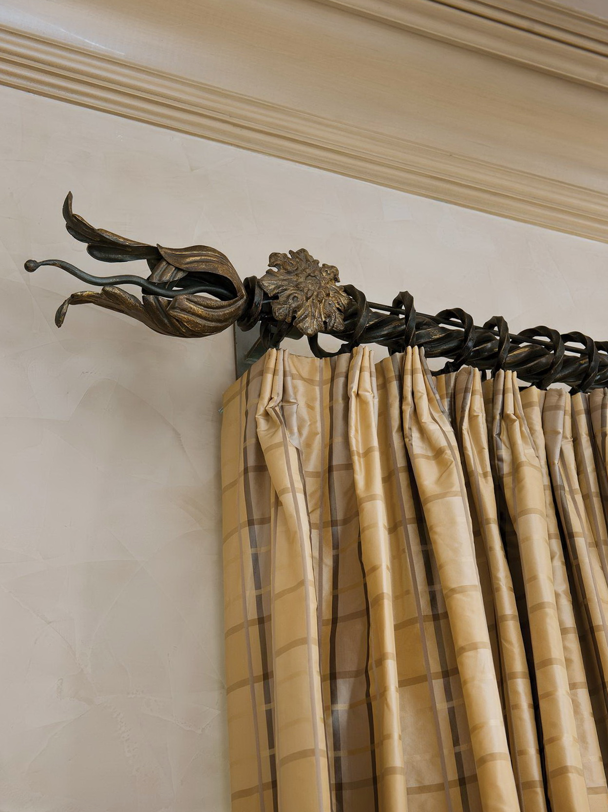 Wrought Iron Curtain Rods And Finials Home Design Ideas