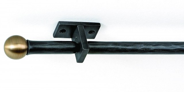 Wrought Iron Curtain Rods Designs