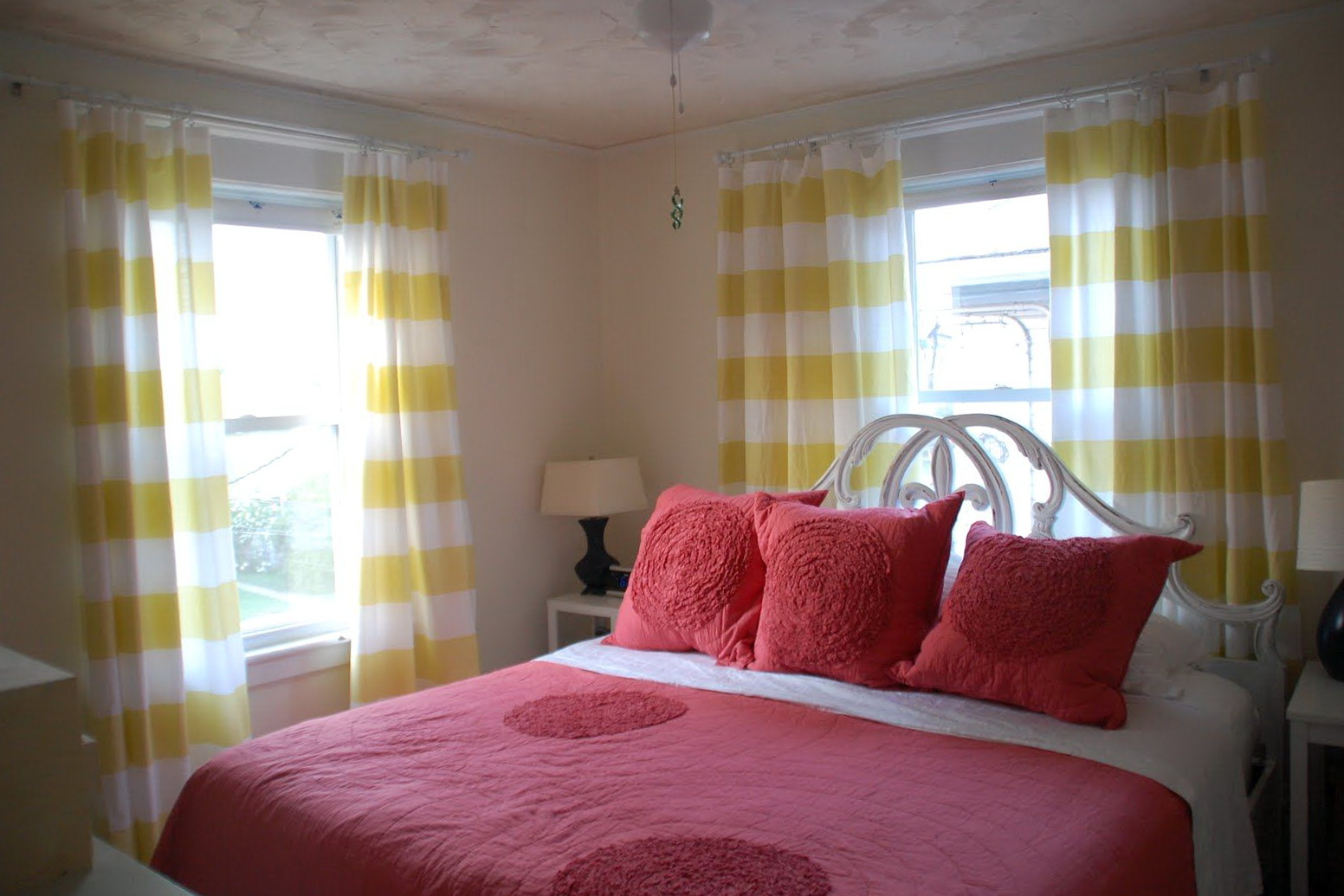 Yellow And White Striped Curtains Home Design Ideas