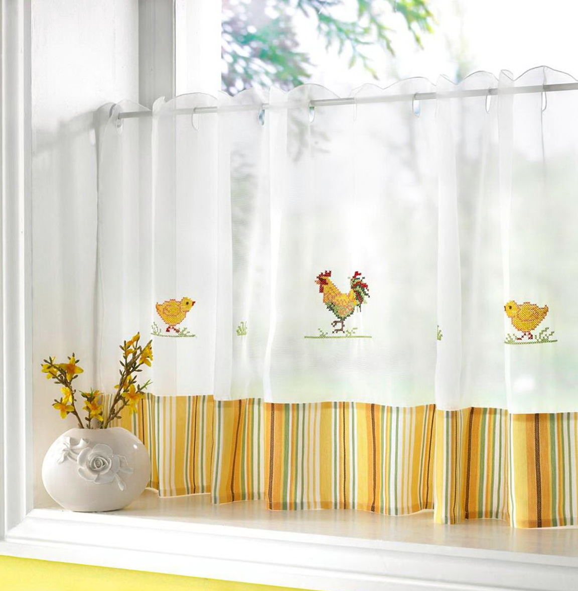 Yellow Cafe Curtains For Kitchen Home Design Ideas