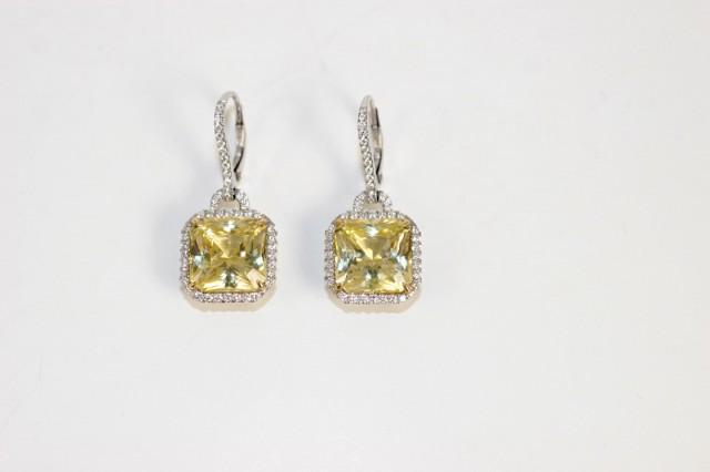 Yellow Diamond Chandelier Earrings