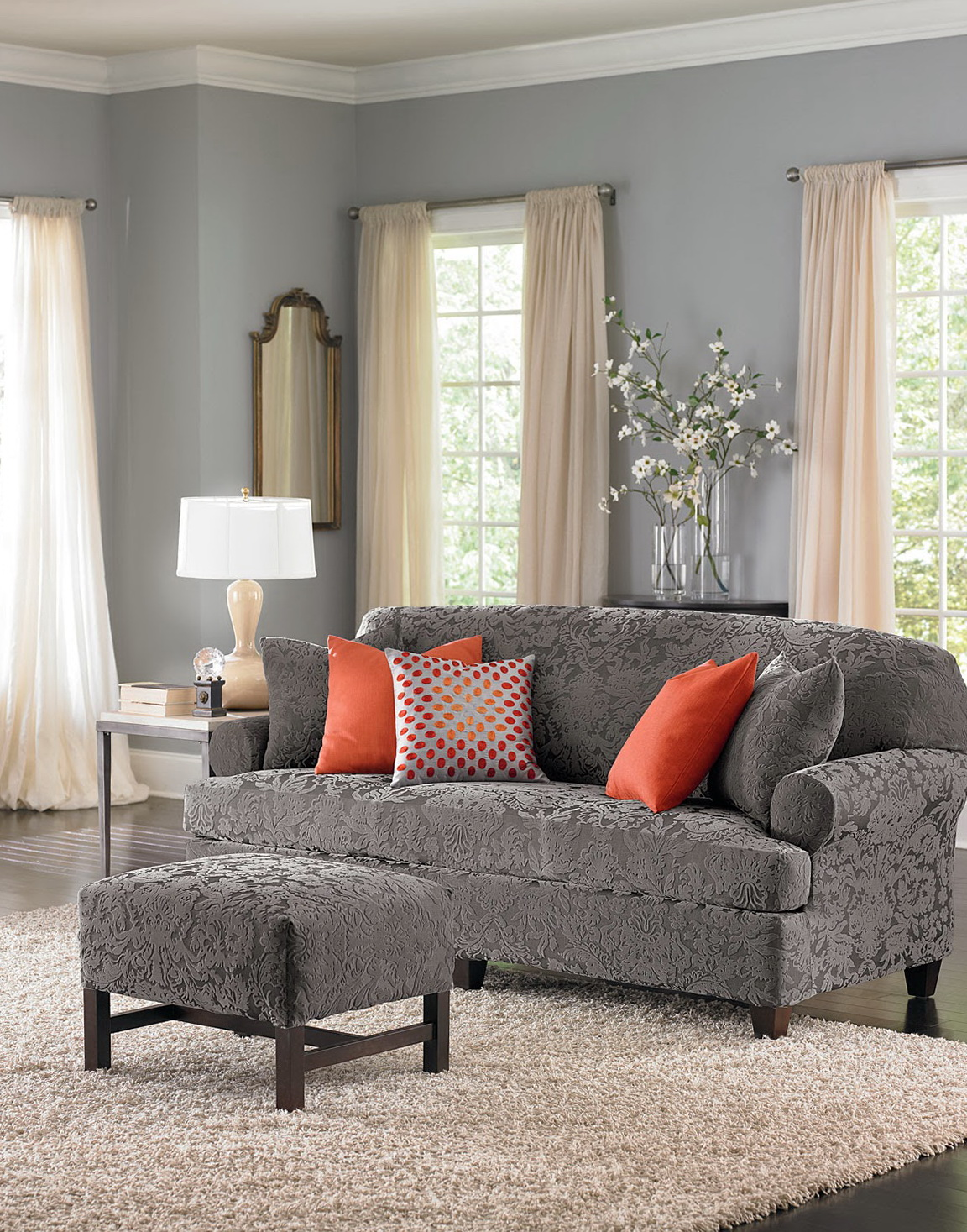 3 Piece T Cushion Sofa Slipcover Home Design Ideas